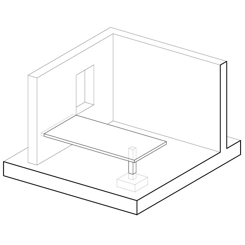 mesa em betão